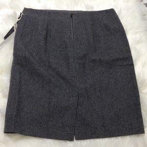 Kenar Skirts - Kenar Wool Blend Straight Pencil Skirt, Gray S 10